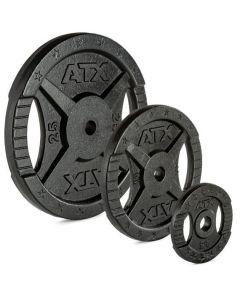 Viktskiva gjutjärn ATX® - 30 mm - svart 0,5 kg till 25 kg