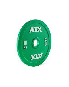 ATX® Kalibrerade Viktskivor av Grovt Stål - 10 kg Grön