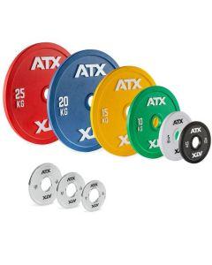 ATX® Kalibrerade Viktskivor av Grovt Stål - 2,5 till 25 kg