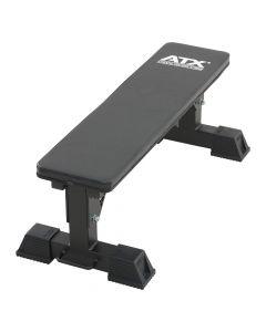 ATX® Heavy Weight Flat Bench Hantelbank schwarz mit weißem ATX-Logo