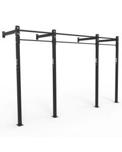 ATX® Wall RIG Standard, 3-Feld System, 2 Rack Stations, 3 Pull-Up Stations, schwarz
