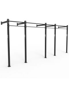 ATX® Wall RIG Standard, 4-Feld System, 2 Rack Stations, 4 Pull-Up Stations, schwarz