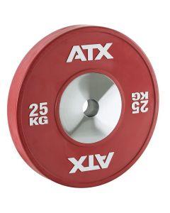 ATX® HQ-Rubber Bumper Plates - Röd 25 kg