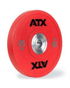 ATX® Urethan Bumper Plate - 25 kg - Röd