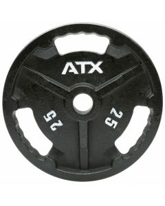 ATX® Viktskiva i Gjutjärn 3-Grip - 50 mm - 0,5 till 25 kg
