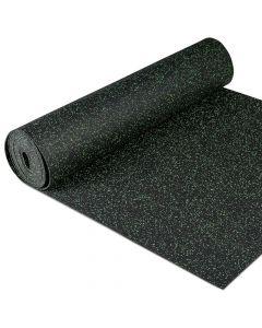 Gymfloor® Granit Design Gummimatta - grå/grön, 5 mm tjockt, Mått: 1,25 m x 10 m