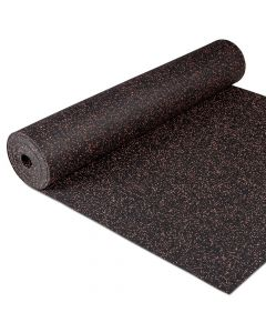Gymfloor® Granit Design Gummimatta - grå/röd, 5 mm tjockt, Mått: 1,25 m x 10 m