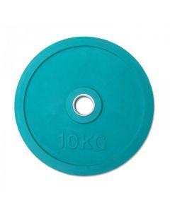 Classic Olympic Gummi Viktskiva 10 kg - Grön