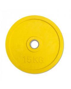 Classic Olympic Gummi Viktskiva 15 kg - Gul