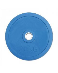 Classic Olympic Gummi Viktskiva 20 kg - Blå
