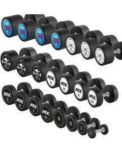 ATX® Gummibelagda Pro Style Hantlar 25 kg (Logo på svart botten)