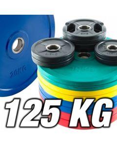 Olympia färgkodat viktpaket 125 kg