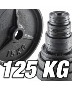 Olympia viktpaket 125 kg - järn