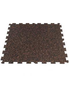 Gymfloor® Pusselmatta 956 x 956 x 8 mm - Svart med röda granuler
