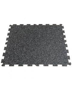 Gymfloor® Pusselmatta 956 x 956 x 8 mm - Svart med gråa granuler